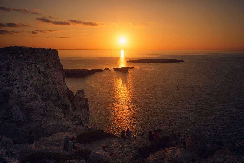Ver sunset pareja menorca